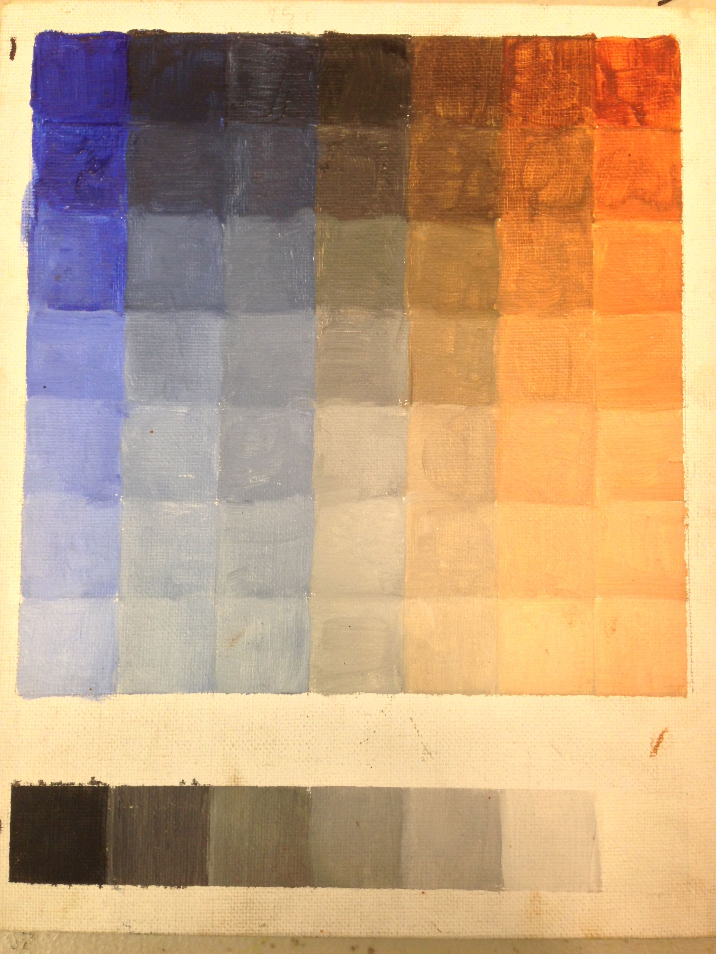 Color Charts In Oil Tucson Classical Atelier