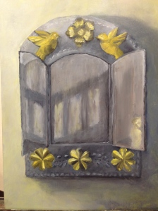 Mirror, in Oil, by Evelynn.
